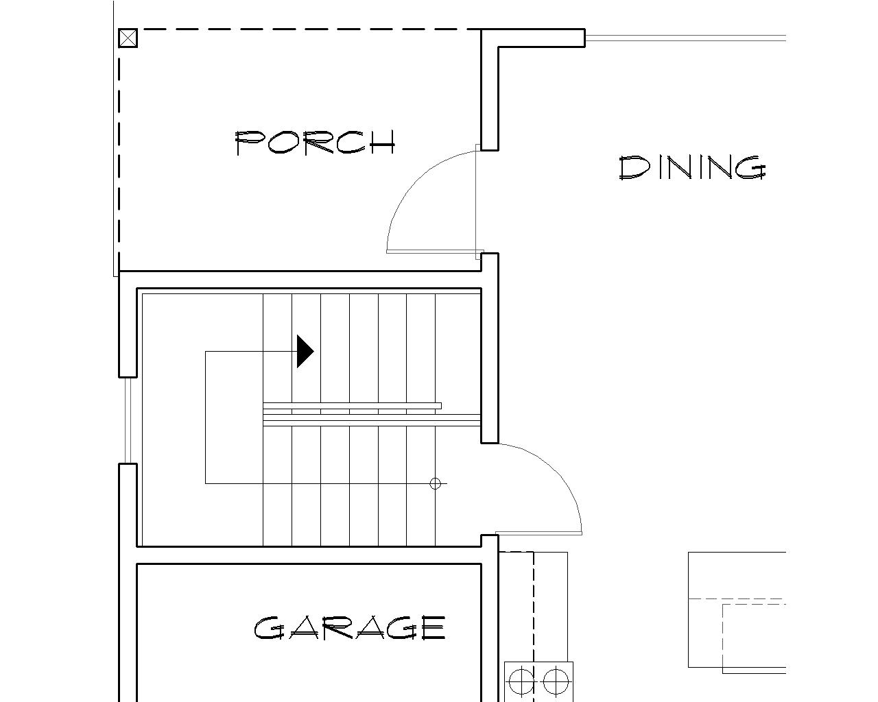 Basement Stair Location image of Featured House Plan: BHG - 5231