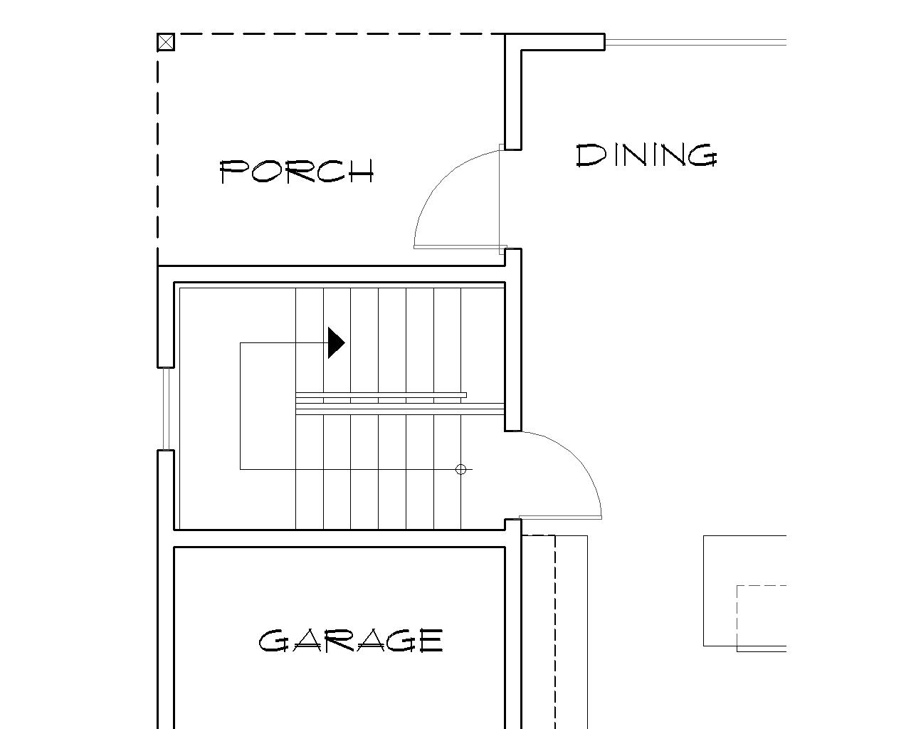 Basement Stair Location image of Featured House Plan: BHG - 5543