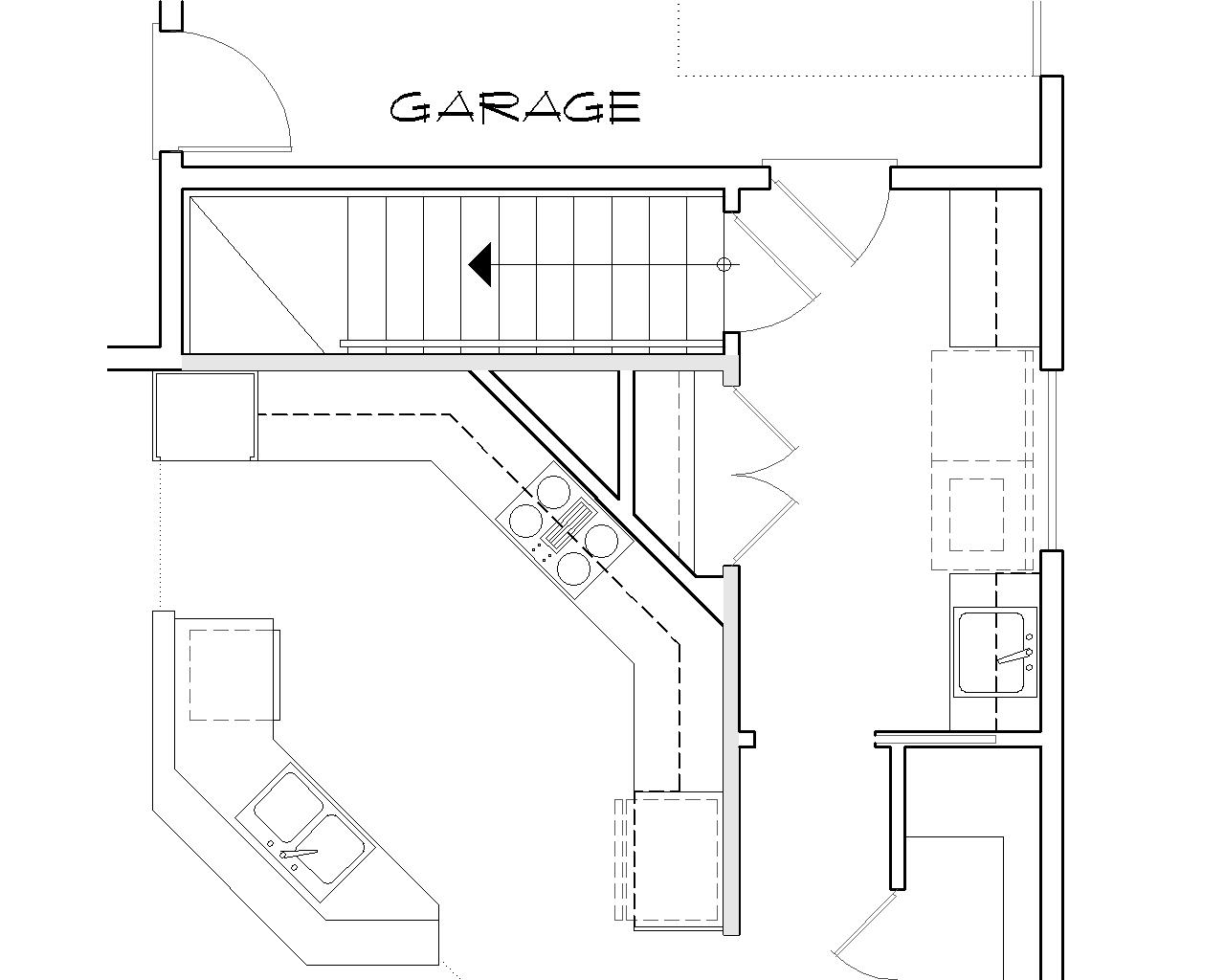 Basement Stair Location image of Featured House Plan: BHG - 5310