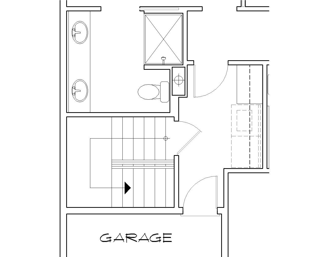 Basement Stair Location image of Featured House Plan: BHG - 5259