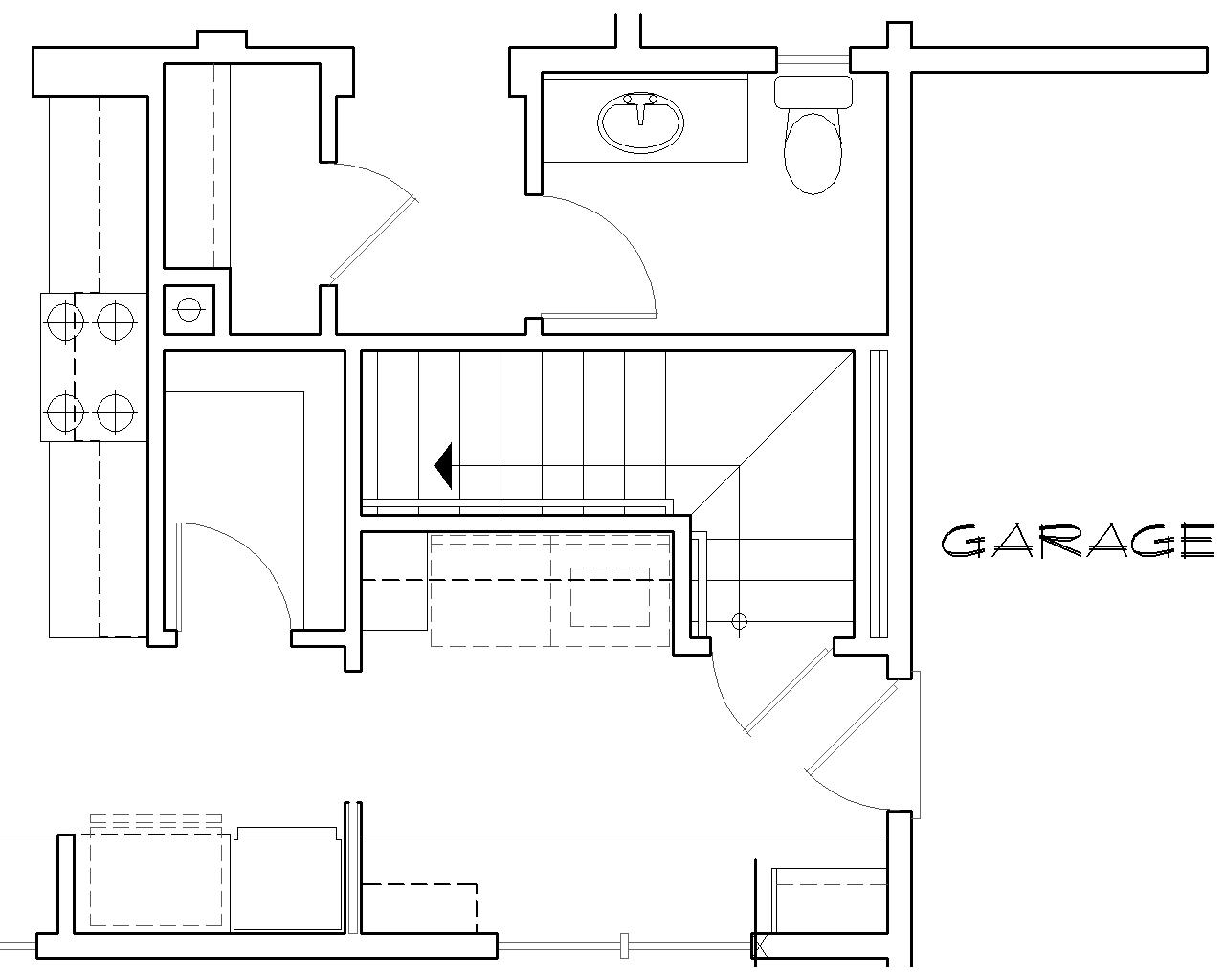 Stair Location for Basement Version image of Featured House Plan: BHG - 7000
