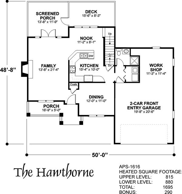 Lower Floorplan image of Featured House Plan: BHG - 6238