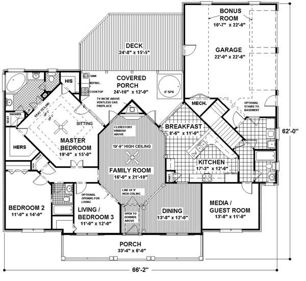 Floorplan image of Featured House Plan: BHG - 6252