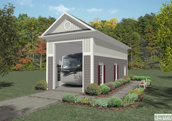 The House Designers Rv Garage One