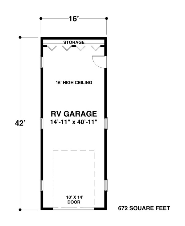 The house designers rv garage one for Rv garage door dimensions