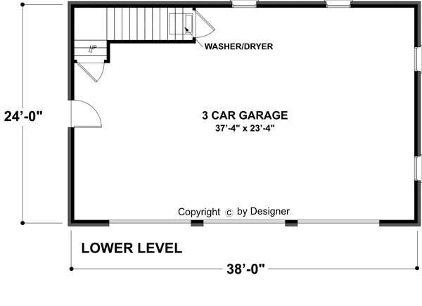 Garage Level image of Featured House Plan: BHG - 7124