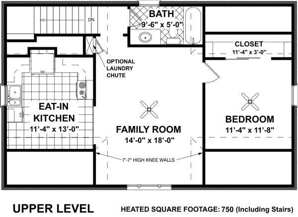 Living Area Floorplan image of Featured House Plan: BHG - 7124