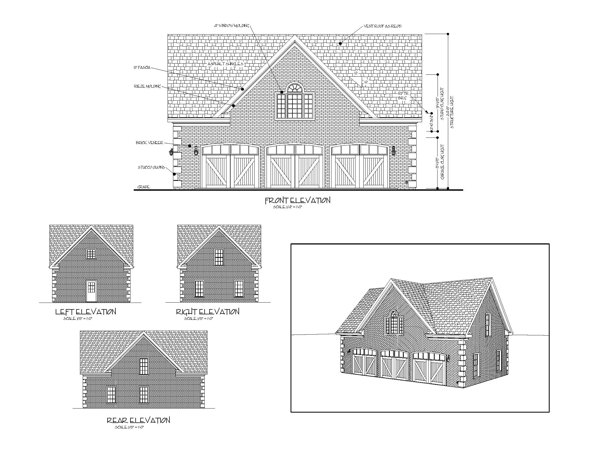 All Elevations image of Featured House Plan: BHG - 7123