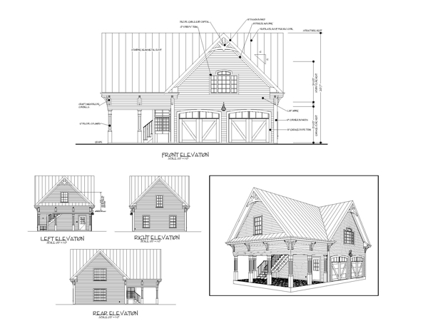 All Elevations image of Featured House Plan: BHG - 8323