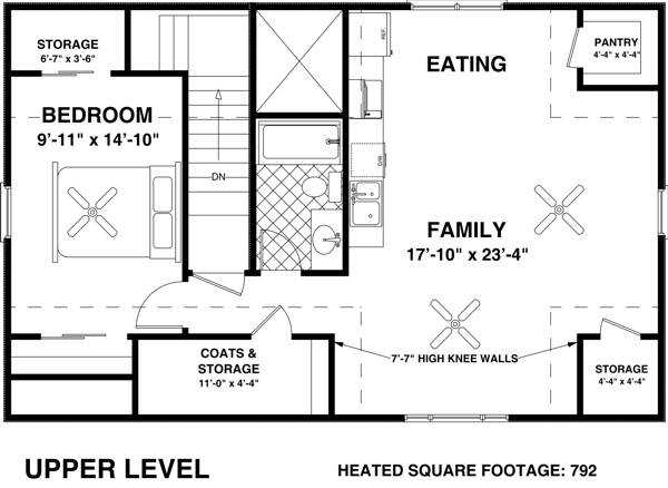 Upper Level Floorplan image of Featured House Plan: BHG - 8323