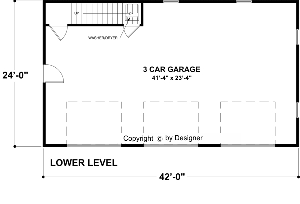 Garage Level image of Featured House Plan: BHG - 7125
