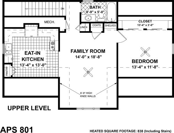 Living Area Floorplan image of Featured House Plan: BHG - 7125