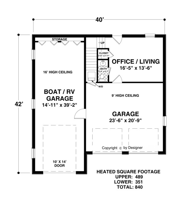 Lower Level Floorplan image of Featured House Plan: BHG - 3069