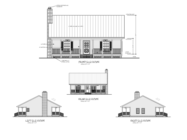 All Elevations image of Featured House Plan: BHG - 6746