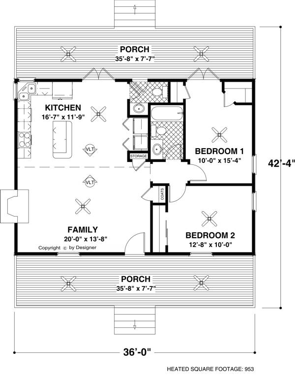 Floorplan image of Featured House Plan: BHG - 6746