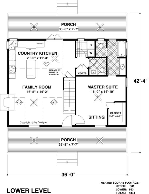 Lower Level Floorplan image of Featured House Plan: BHG - 6619