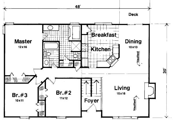 Floorplan image of Featured House Plan: BHG - 6283