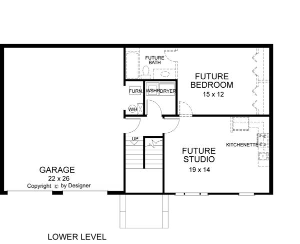 Lower Level Floorplan image of Featured House Plan: BHG - 6284