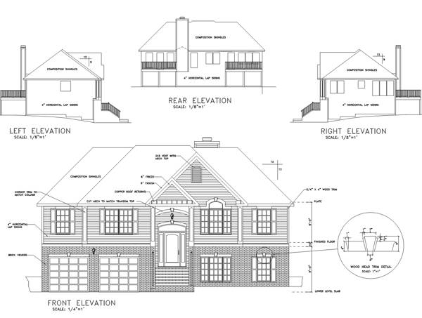 Rear Elevation image of Featured House Plan: BHG - 6284