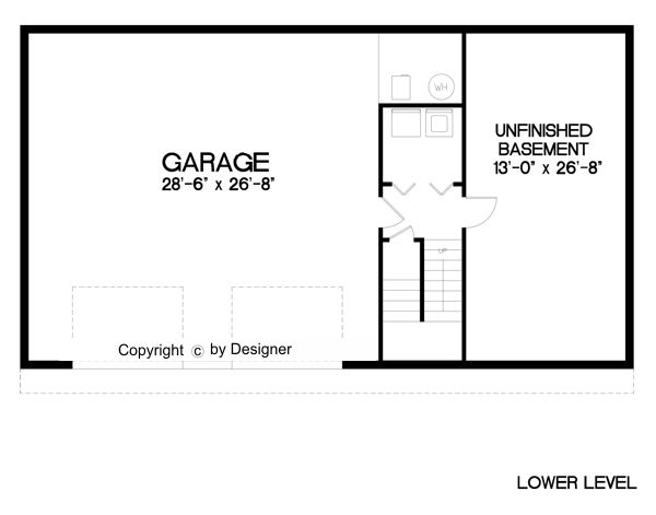 Garage Level image of Featured House Plan: BHG - 6286