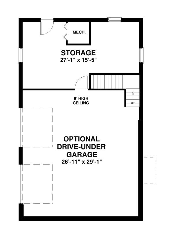 Basement Plan image of Featured House Plan: BHG - 2311