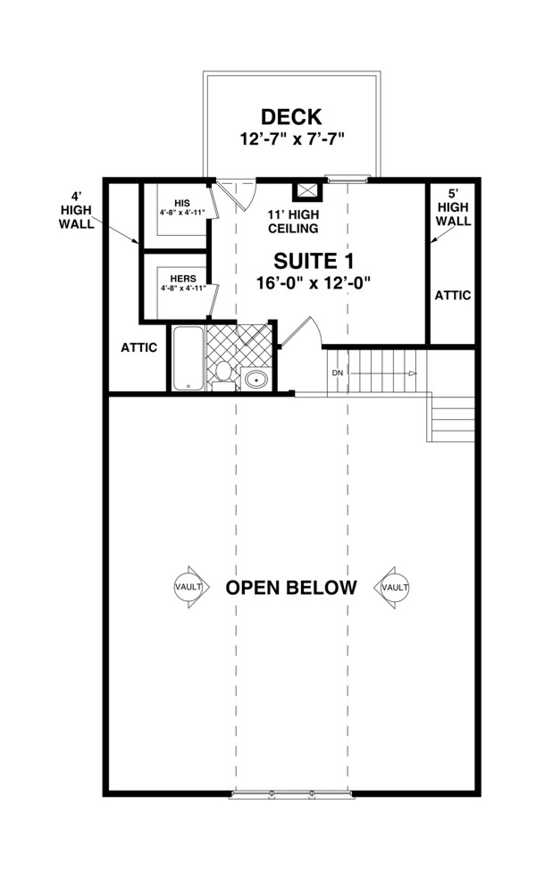 Upper Level Floorplan image of Featured House Plan: BHG - 2311