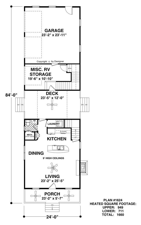 Main Level Floor Plan image of Featured House Plan: BHG - 2312
