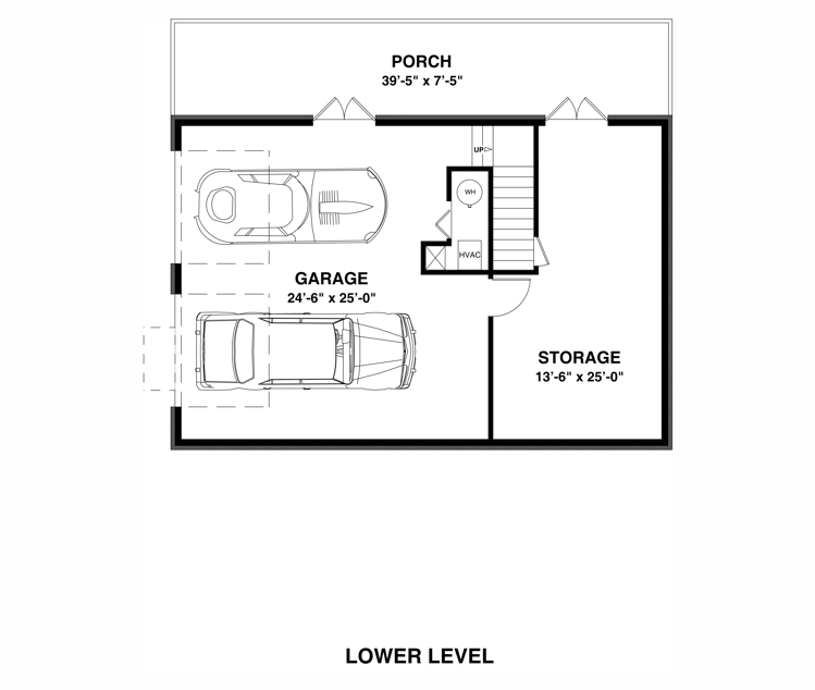 Lower Level Floorplan image of Featured House Plan: BHG - 3061