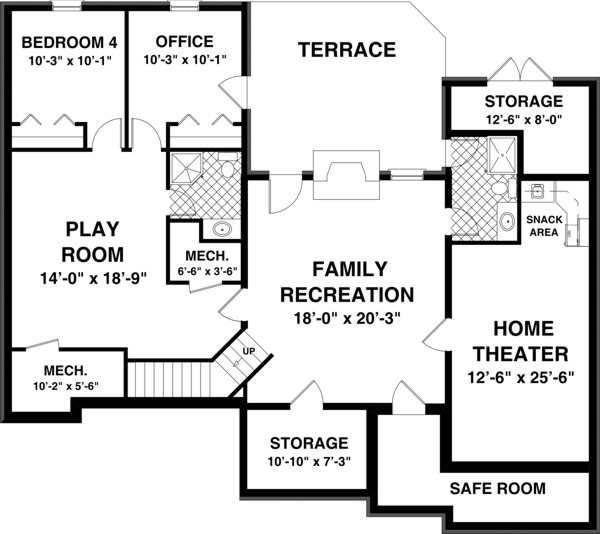 Optional Basement Plan image of Featured House Plan: BHG - 8431