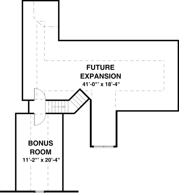 Bonus Room image of Featured House Plan: BHG - 8431