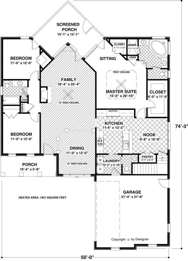 Floorplan image of Featured House Plan: BHG - 6922