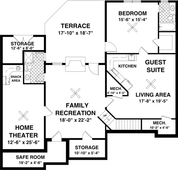 Optional Basement Plan image of Featured House Plan: BHG - 8439