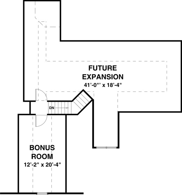 Bonus Room image of Featured House Plan: BHG - 8448