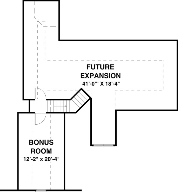 Bonus Room image of Featured House Plan: BHG - 8450