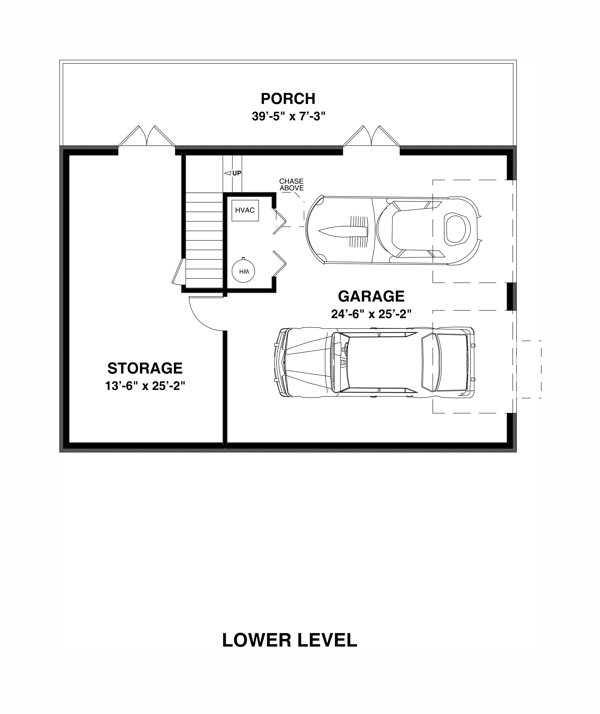 Basement Plan image of Featured House Plan: BHG - 2313