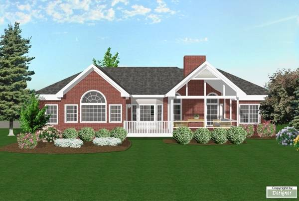 Rear Elevation image of Featured House Plan: BHG - 6251