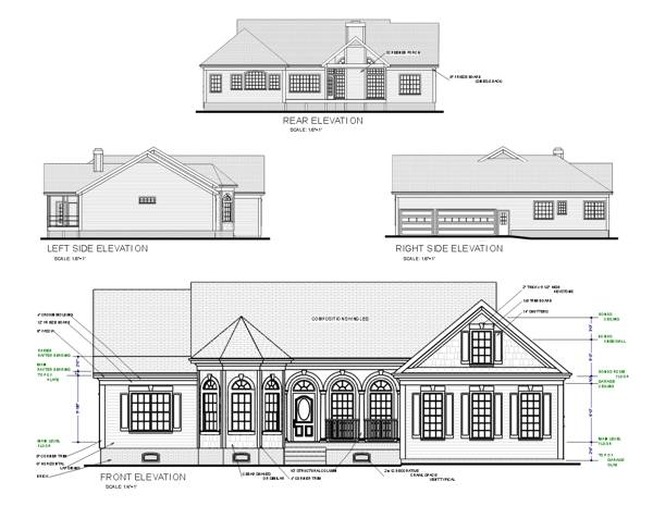 Rear Elevation image of Featured House Plan: BHG - 6306