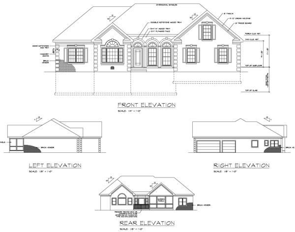 Rear Elevation image of Featured House Plan: BHG - 6243