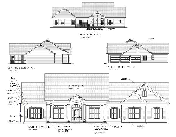 Rear Elevation image of Featured House Plan: BHG - 6250