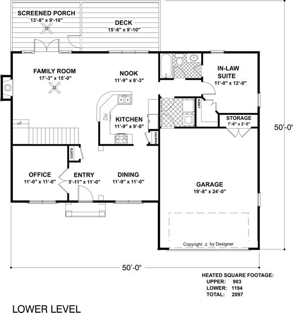 Lower Level Floorplan image of Featured House Plan: BHG - 6471