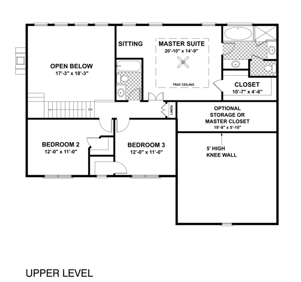 Upper Level Floorplan image of Featured House Plan: BHG - 6471