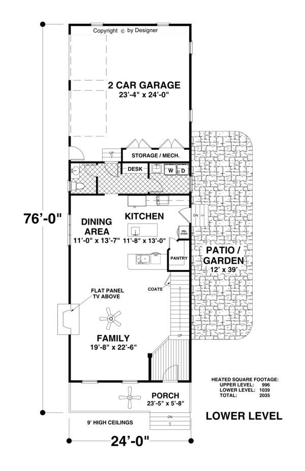 Lower Level Floorplan image of Featured House Plan: BHG - 1757