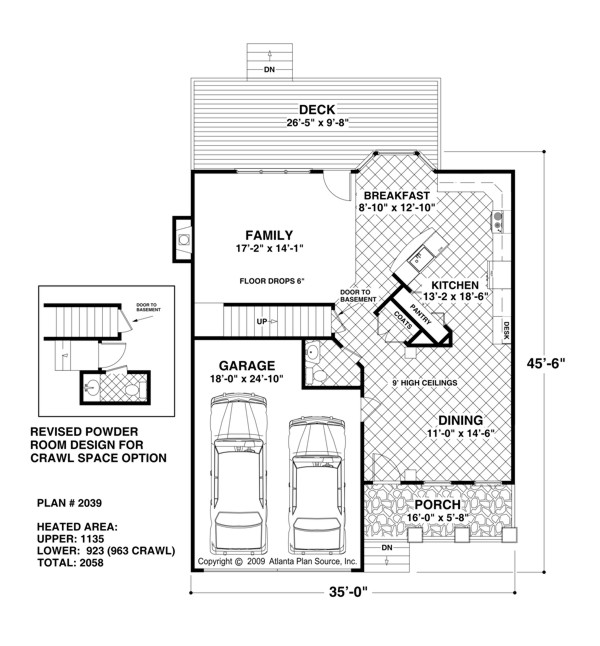 First Floor Plan image of Featured House Plan: BHG - 6928