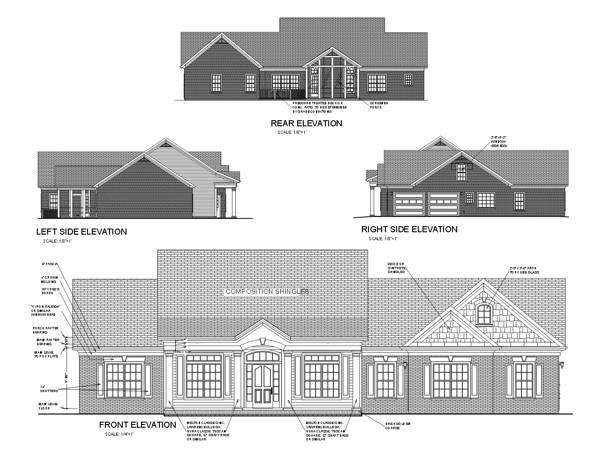 Rear Elevation image of Featured House Plan: BHG - 6249