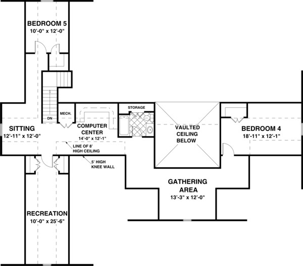 Bonus Room image of Featured House Plan: BHG - 3305