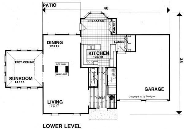 Lower Level Floorplan image of Featured House Plan: BHG - 7610