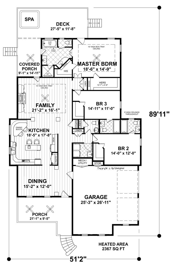 First Floor Plan image of Featured House Plan: BHG - 4379