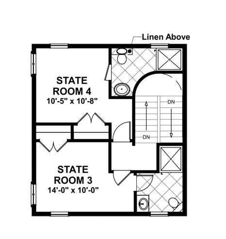 Upper Level Floorplan image of Featured House Plan: BHG - 4657
