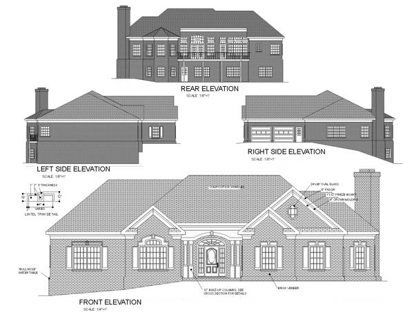 Rear Elevation image of Featured House Plan: BHG - 6253