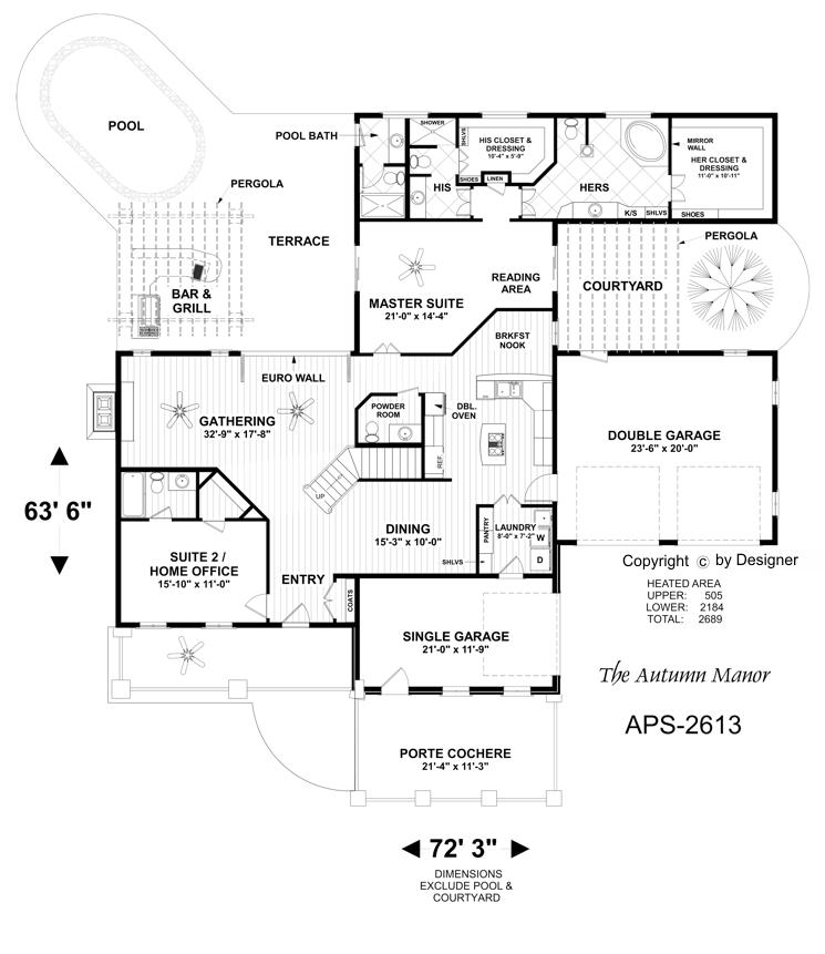 Lower Floorplan image of Featured House Plan: BHG - 4708